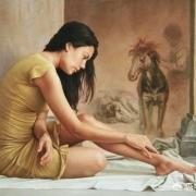 油画中表现女性题材的作品怎么那么多?