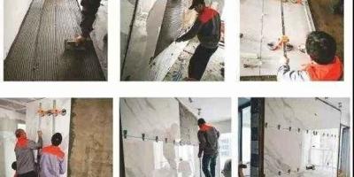 电视背景墙想贴大砖,为了保证平整先铺贴一张欧松板,后面怎么施工更牢固?