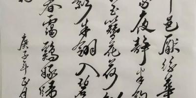 跟着字帖学了几个月,不知道写得怎么样,(如图)这个水平如何?