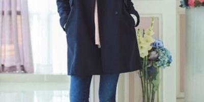 藏青色的大衣该怎么搭配?