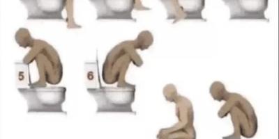在外面上厕所时,多半都会遇到这种蹲式的马桶,通常你是怎么蹲的呢?