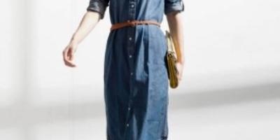 牛仔连衣裙如何穿出特别的感觉?