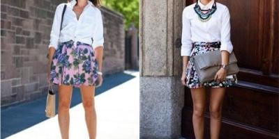 白色衬衫配什么颜色的裙子好看?