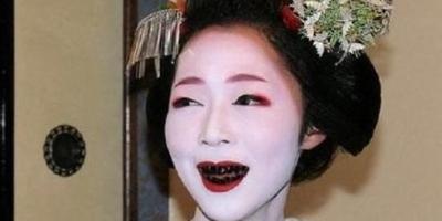 日本战国时代,妇女的牙为什么是黑色的?