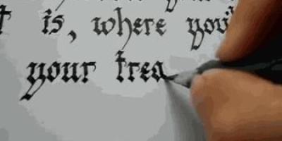 英文、法文等外国文字也有书法家吗?