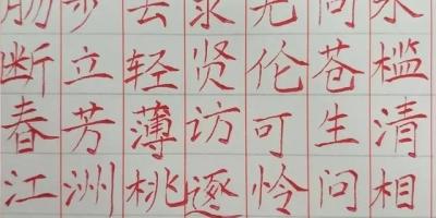 请硬笔书法老师帮我指导一下我写的字结构问题可否?