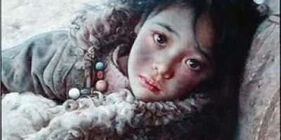 如何看待当代画家艾轩的西藏女人油画显露出的苦涩情趣?