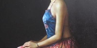 如何看待当代画家刘世宗的女人油画充满古风元素和现代审美情趣?