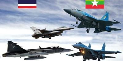 枭龙战斗火拼f16,泰国缅甸上演战机大战,到底谁会更强?