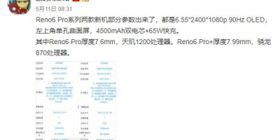 听说这次Reno6超大杯将搭载骁龙870,这颗芯片表现怎样?