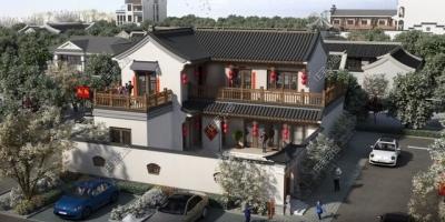 宅基地14米宽,朝南,17米长,门朝西,且前后两个院子,怎么设计比较好?
