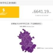 安徽淮北平均工资是多少?